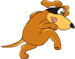 23632-clip-art-graphic-of-a-sneaky-brown-hound-dog-cartoon-character-wearing-a-mask-over-his-eyes-by-toons4biz.jpg