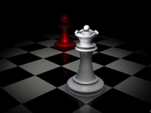 Image result for chess board with pawn and queen